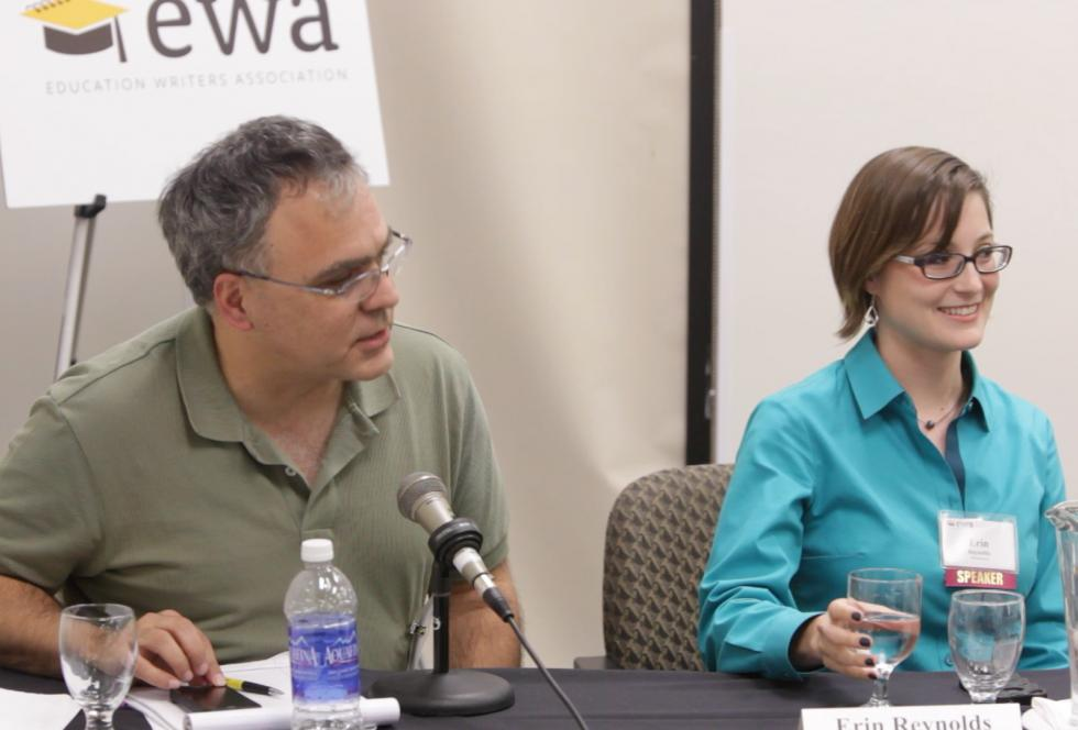 Greg Toppo (left) and Erin Reynolds