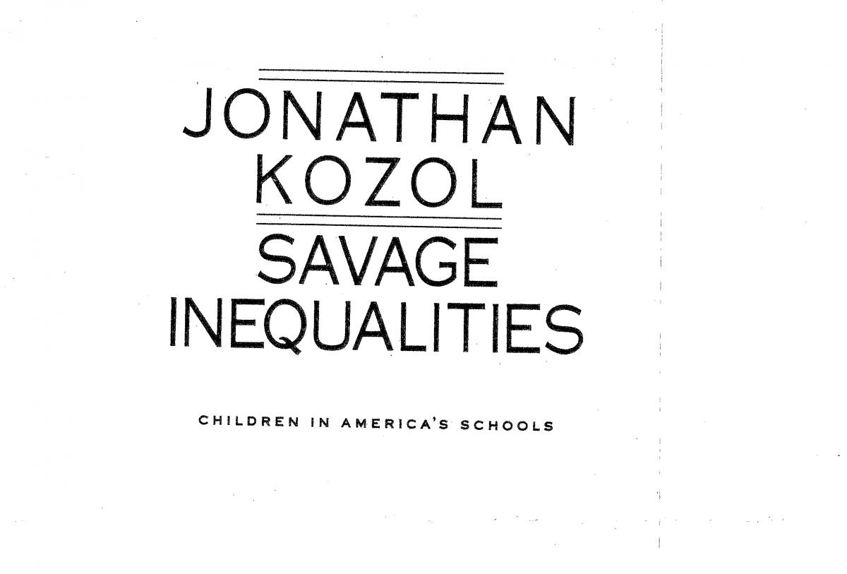 kozols opposition of the way public school are funded