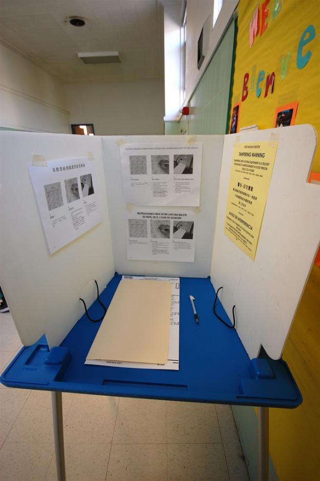 Schools are the de facto polling sites in many states, forcing districts to cancel classes in the interest of safety and space constraints. (Flickr/Andre Bach via Creative Commons)