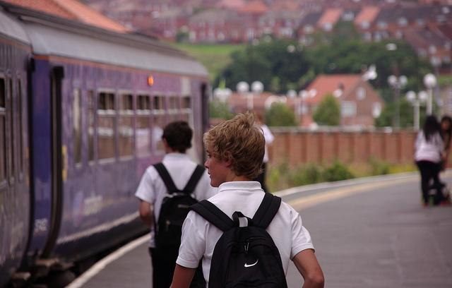 Students board the train home in Whitby, England. (Flickr/Matt Buck)