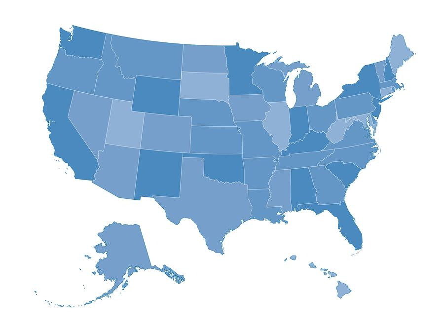 State Education Policy Education Writers Association - Us map county political