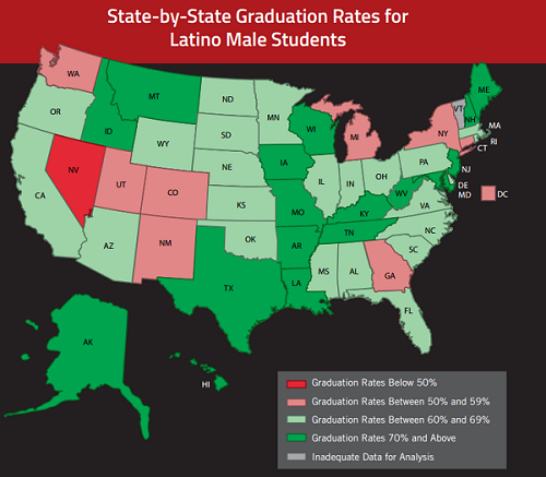 """Source: """"Black Lives Matter: The Schott 50 State Report on Public Education and Black Males,"""" The Schott Foundation for Public Education 2015"""