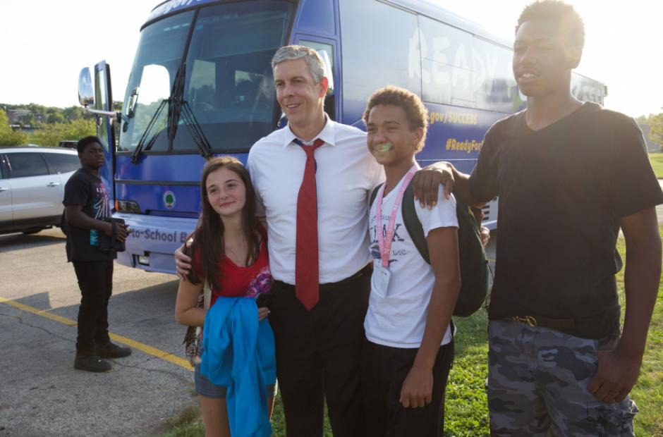 Image of On the Bus: Arne Duncan's Back-to-School Tour