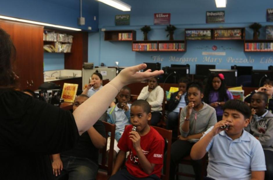 Image of When Artists Visit a Low-Income School to Teach Theater and Music