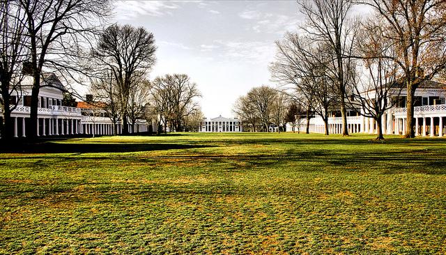 A view of the University of Virginia, where a fraternity is suing Rolling Stone magazine for its now-retracted cover story about an alleged rape on campus. The continued fallout is putting fresh scrutiny on how institutions handle such allegations as well as the media's coverage of the issues. (Flickr/Phil Roeder)