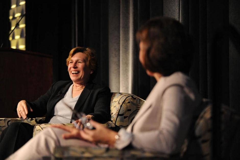 Lyndsey Layton (right) of The Washington Post interviews Randi Weingarten at the 67th National Seminar.
