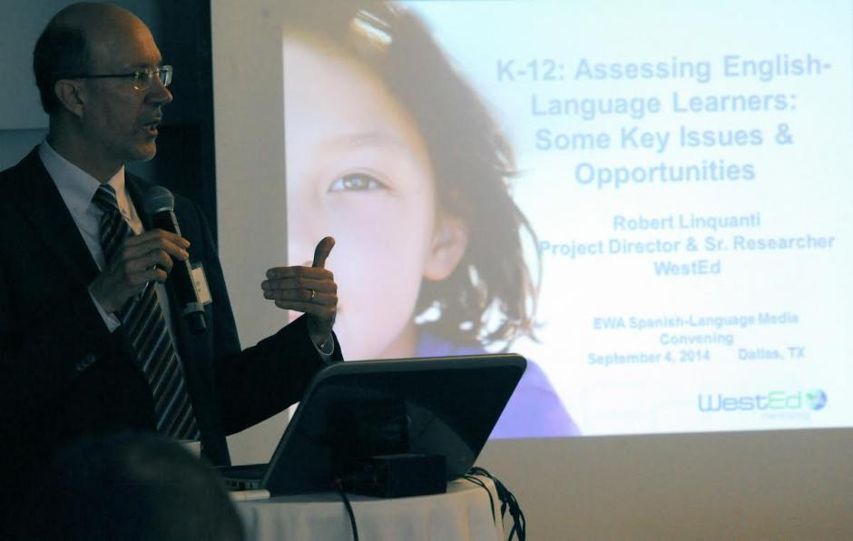 Robert Linquanti discusses the various processes states use to identify English language learners. Source: Jay Torres, Diario La Estrella