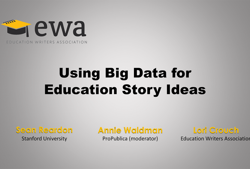 Using Big Data for Education Story Ideas