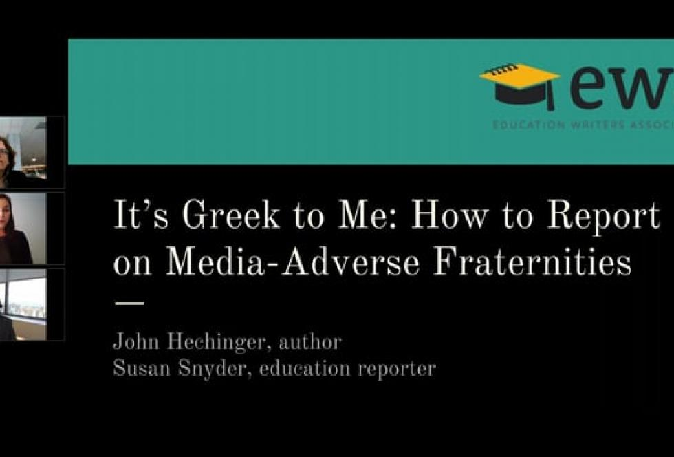 It's Greek to Me: How to Report on Media-Averse Fraternities