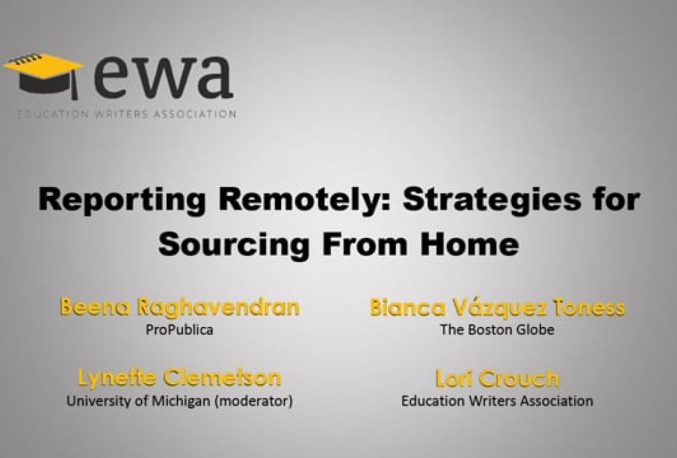 Reporting Remotely: Strategies for Sourcing From Home