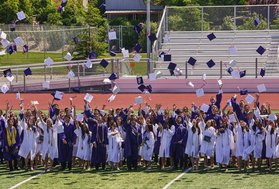 The Class of 2015 celebrates graduation at Lynbrook High School in San Jose, California. (Flickr/Peter Theony)