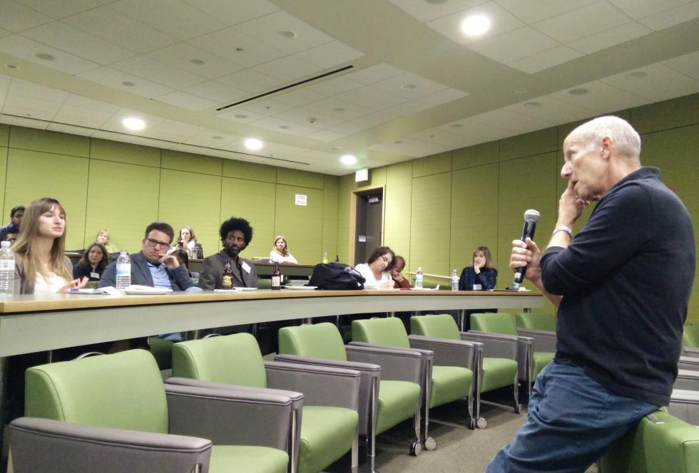 Larry Rosenstock speaks to reporters during EWA's seminar on motivation in November. (Photo credit: EWA/Michael Marriott)