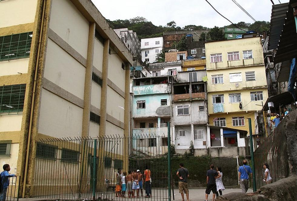 A school serving one of the poorer neighborhoods in  Rio de Janeiro, Brazil. (Flickr/Charlie Phillips)