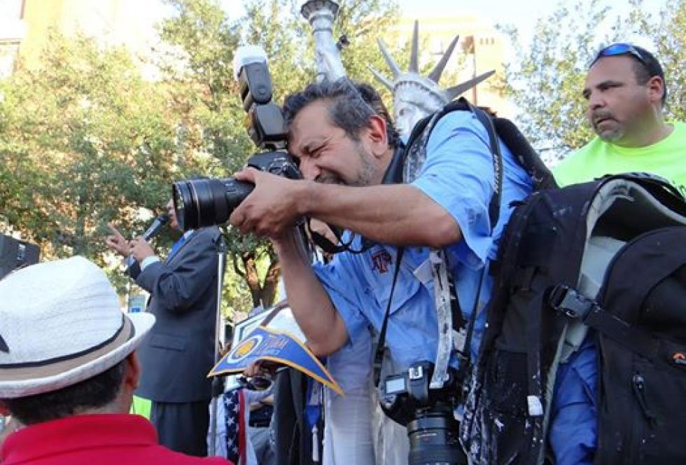 Jay Torres, 57, was killed in Garland, Texas, this week. He was an inaugural member of EWA's annual Spanish-language media convening and beloved by many as a respected journalist and photographer in the Forth Worth area. Source: Rebecca Aguilar (Used with permission)