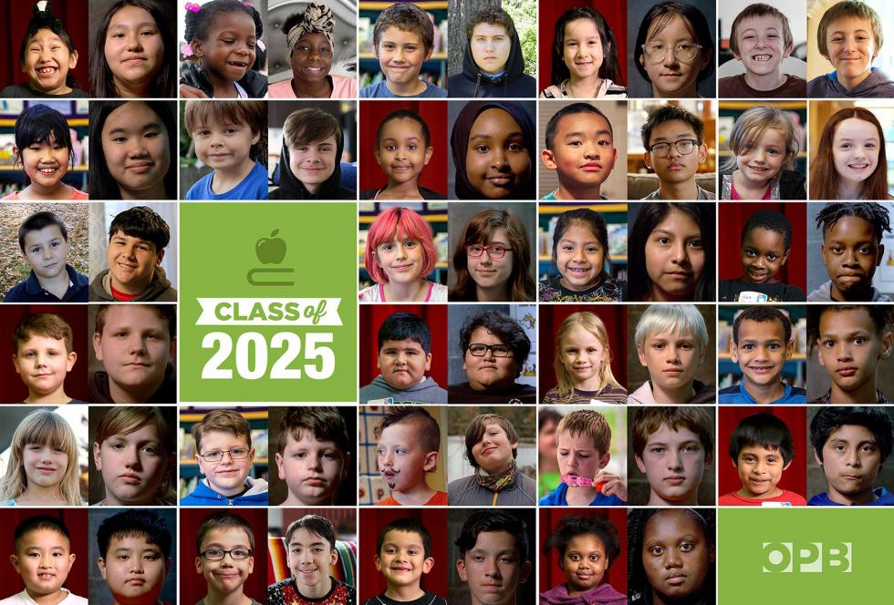 photo collage of Class of 2025 students