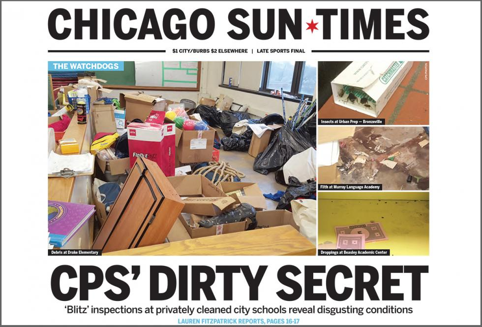 image of Chicago Sun Times article CPS's Dirty Little Secrets