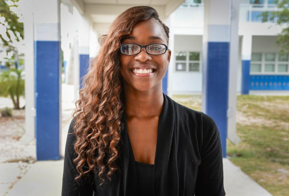 Infinity Moreland, now a senior at North Port High School, was expelled in the fall of 2014 for a fight she did not start. (Sarasota Herald-Tribune/Rachel S. O'Hara used with permission)