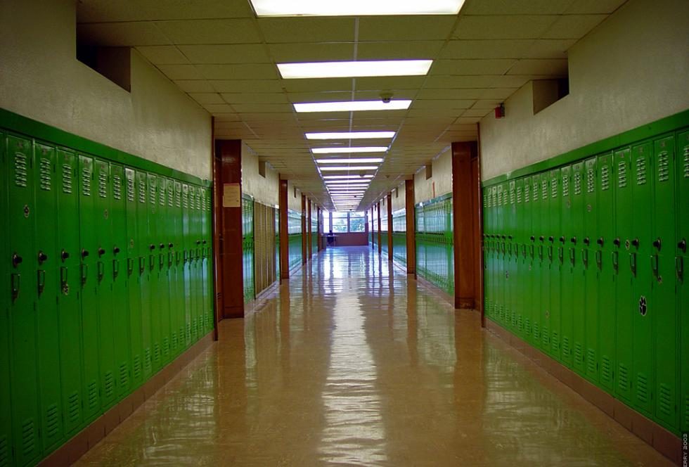 Hallway of Bryan Adams High School in Dallas, Texas. (Flickr/Dean Terry)