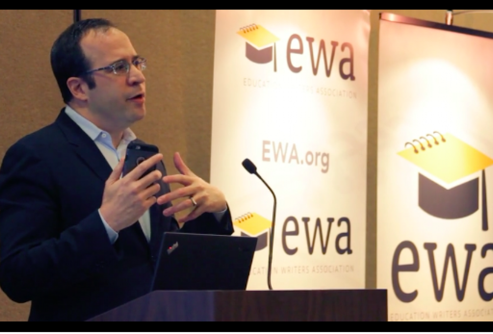 David Coleman speaks to reporters at an Education Writers Seminar in Los Angeles, February 27, 2016. (Credit: EWA)