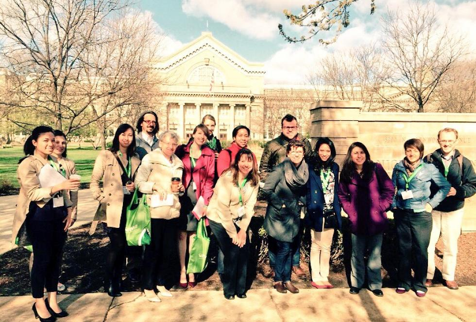 EWA journalist members visit Nicholas Senn High School in Chicago on April 22, 2015. (EWA/Emily Richmond)