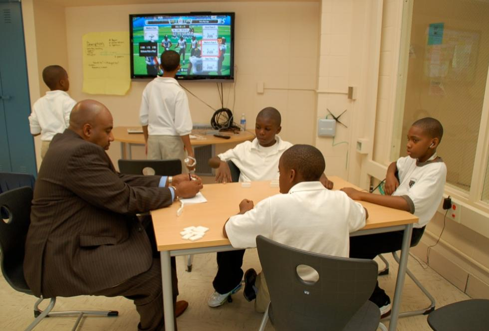 Students at the University of Chicago Charter School's Carter G. Woodson Campus. (Flickr/Lucy Gray)