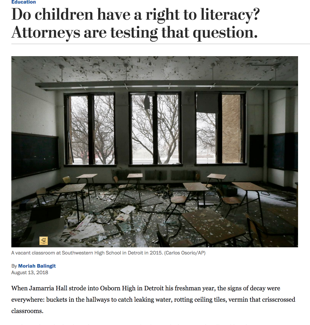 Do Children Have Right To Literacy >> Moriah Balingit National Education Coverage Education Writers