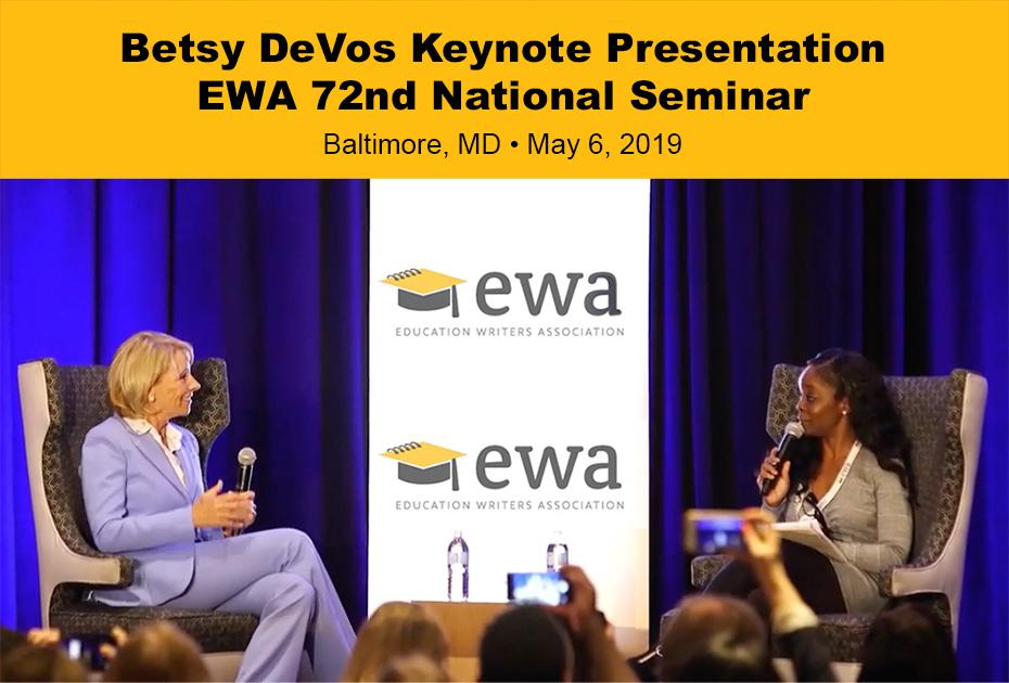 Betsy Devos Keynote Address & Interview