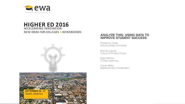 Analyze This: Using Data to Improve Student Success