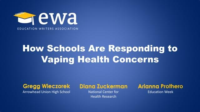 How Schools Are Responding to Vaping Health Concerns