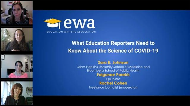 What Education Reporters Need to Know About the Science of COVID-19
