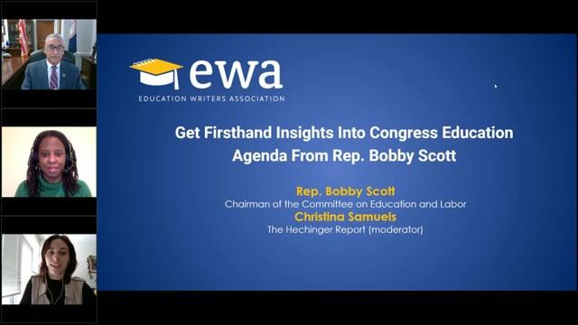 Get Firsthand Insights Into the Congressional Education Agenda From U.S. Rep. Bobby Scott