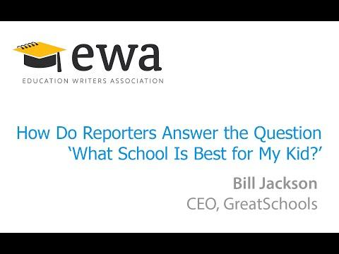 How Do Reporters Answer the Question 'What School Is Best for My Kid?'