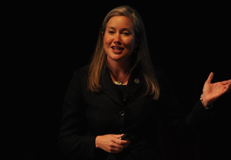 Jamie Woodson of Tennessee SCORE speaks at the 67th National Seminar.