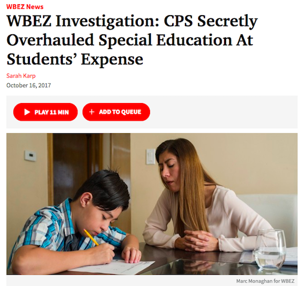 Investigation Students In Special Ed >> Cps Secretly Overhauled Special Education At Students Expense