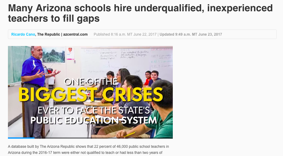 Inexperienced Teacher Application Letter, Screen Capture The Arizona Republic, Inexperienced Teacher Application Letter