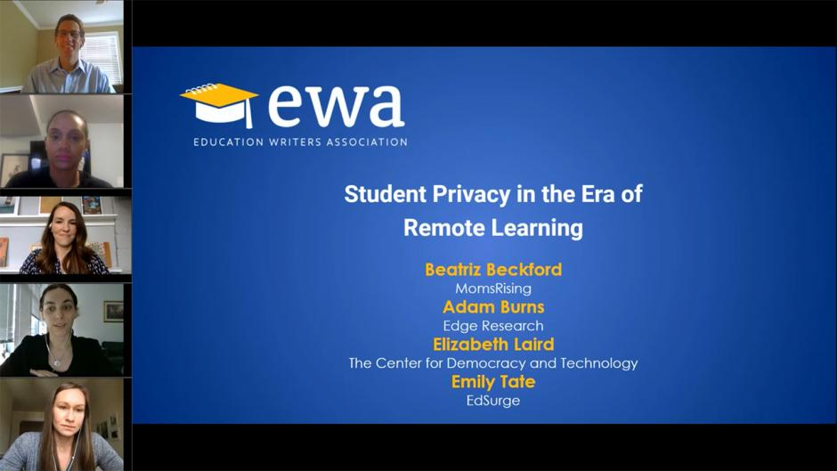 Student Privacy in the Era of Remote Learning
