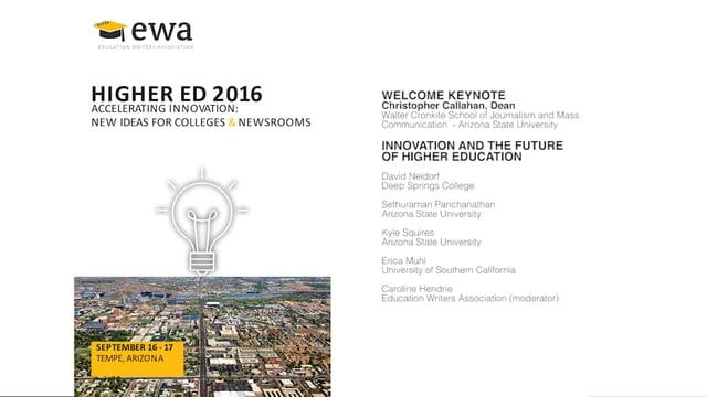 Innovation and the Future of Higher Education