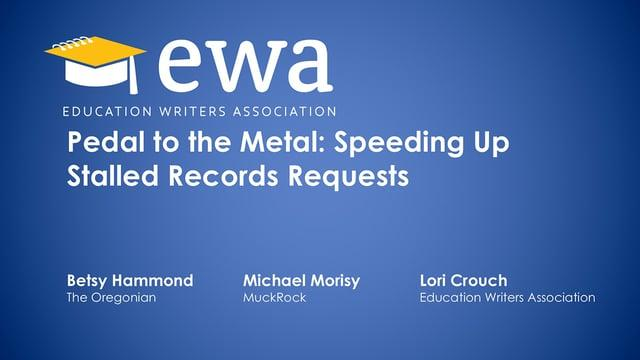 Pedal to the Metal: Speeding Up Stalled Records Requests
