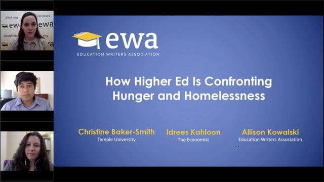 How Higher Ed Is Confronting Hunger and Homelessness