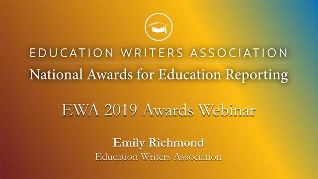 EWA 2019 Awards Overview Quick Webinar