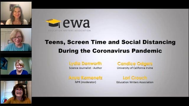 Teens, Screen Time and Social Distancing During the Coronavirus Pandemic
