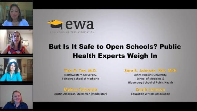 But Is It Safe to Open Schools? Public Health Experts Weigh In