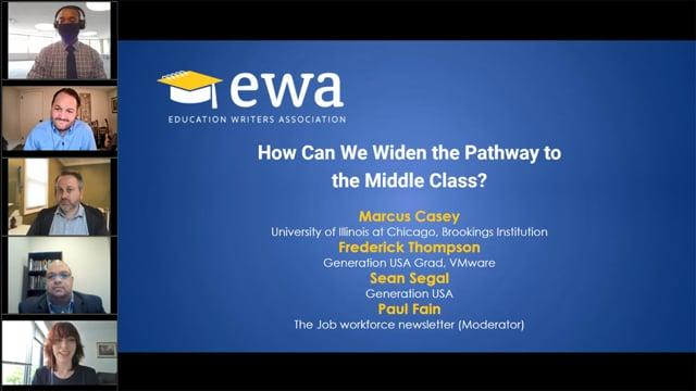 How Can We Widen the Pathway to the Middle Class?