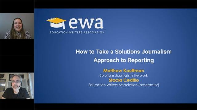 How to Take a Solutions Journalism Approach to Reporting