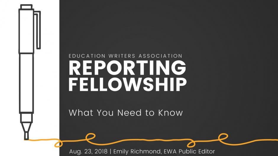 Want an EWA Reporting Fellowship? Here's What You Need to Know.