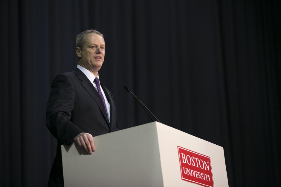Massachusetts Gov. Charlie Baker speaks at EWA's National Seminar in Boston. (Photo by Katherine Taylor for EWA)