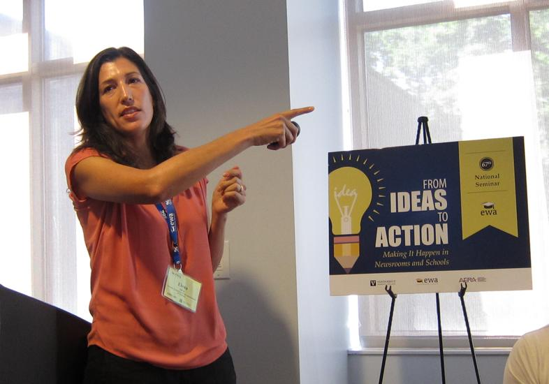 Elena Silva of the Carnegie Foundation for the Advancement of Teaching. Photo credit: Melissa Bailey