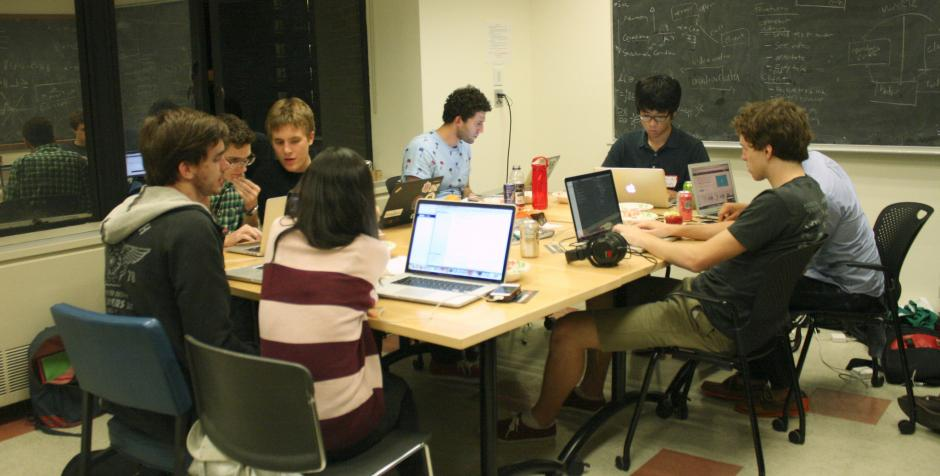 Students at New York University work on a computer programming project. More interactive learning is expected to be a hot topic in the coming year on both the K-12 and higher education beats. (Flickr/Matylda Czarnecka)