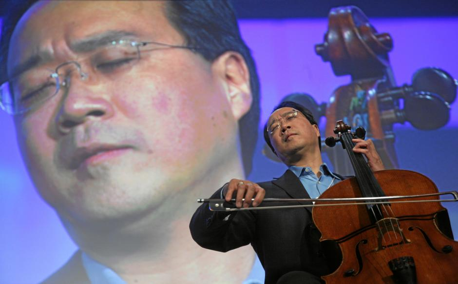 Yo-Yo Ma performs at the 2008 World Economic Forum Annual Meeting in Davos. He's one of several dozen artists affiliated with Turnaround Arts. (Source: